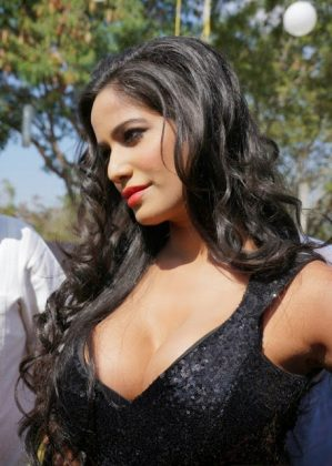 poonam pandey hot black dress cleavage photos southcolors 8