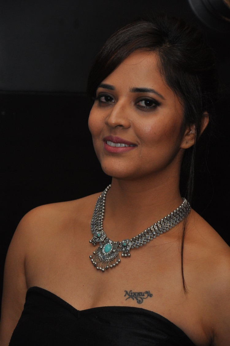 actress anasuya hot stills at winner movie pre release event southcolors 16