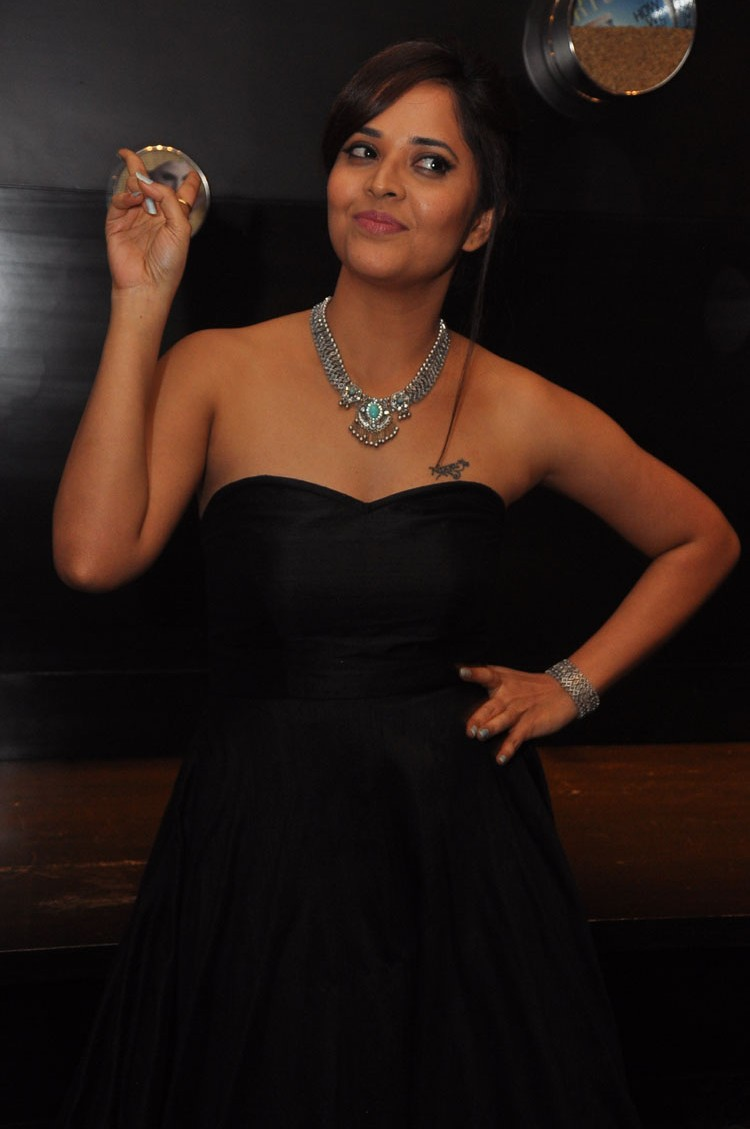 actress anasuya hot stills at winner movie pre release event southcolors 17