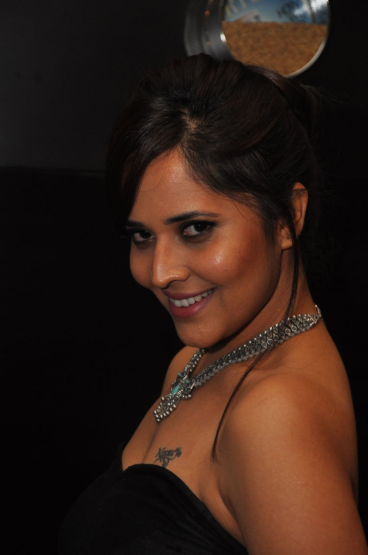 actress anasuya hot stills at winner movie pre release event southcolors 2