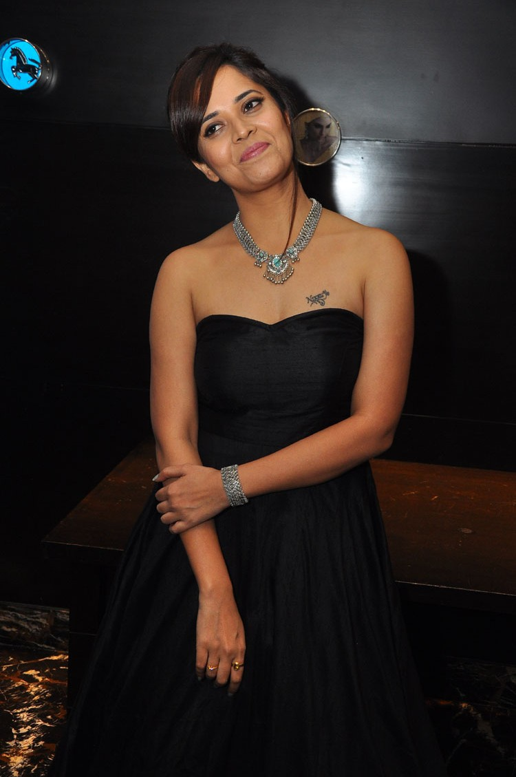 actress anasuya hot stills at winner movie pre release event southcolors 21