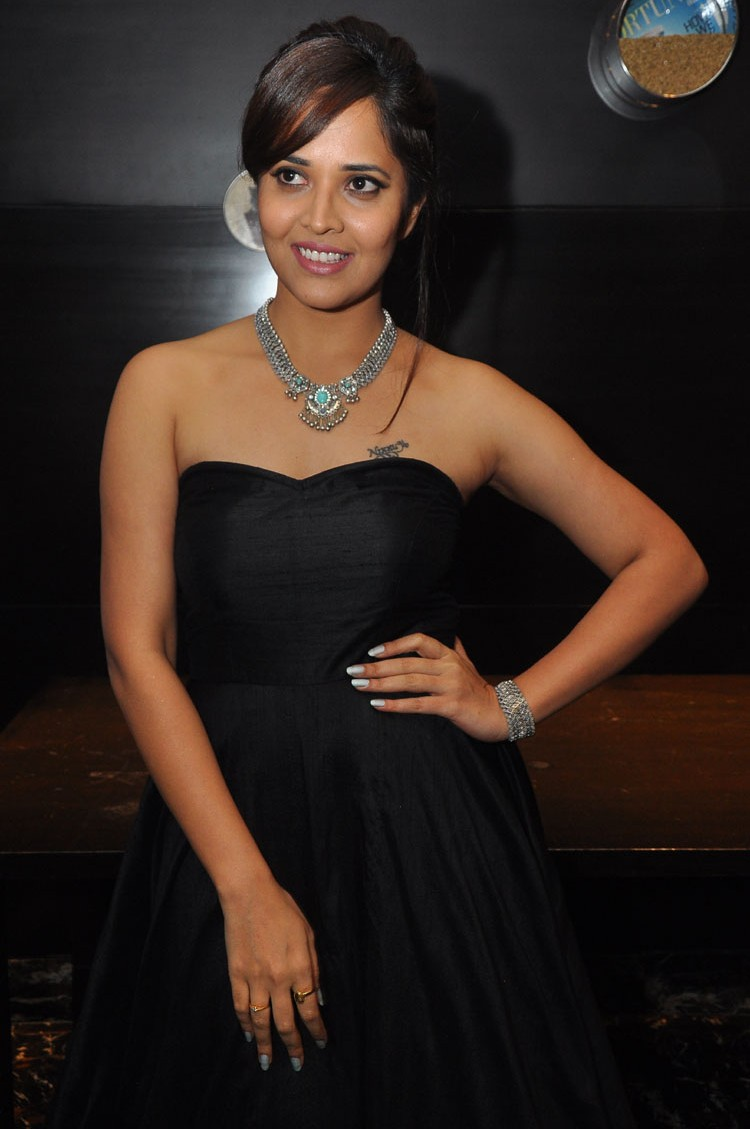 actress anasuya hot stills at winner movie pre release event southcolors 24