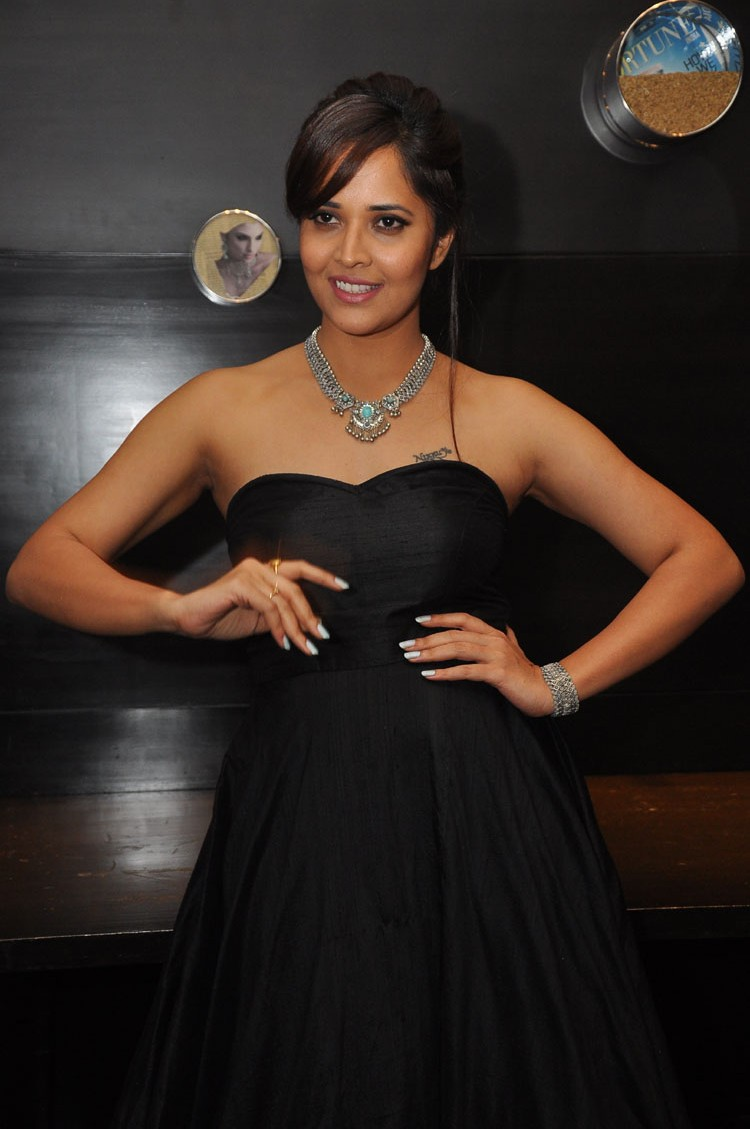 actress anasuya hot stills at winner movie pre release event southcolors 25