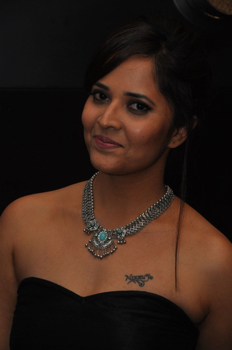 actress anasuya hot stills at winner movie pre release event southcolors 27