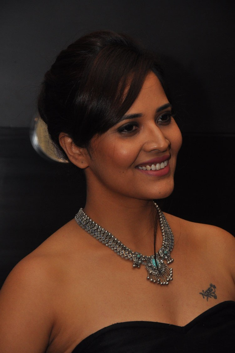 actress anasuya hot stills at winner movie pre release event southcolors 38