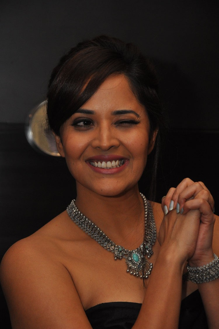 actress anasuya hot stills at winner movie pre release event southcolors 42
