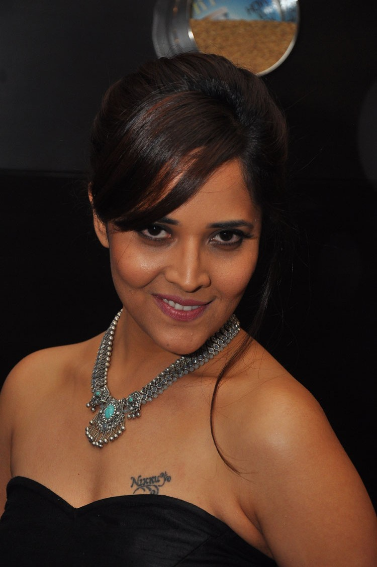 actress anasuya hot stills at winner movie pre release event southcolors 45