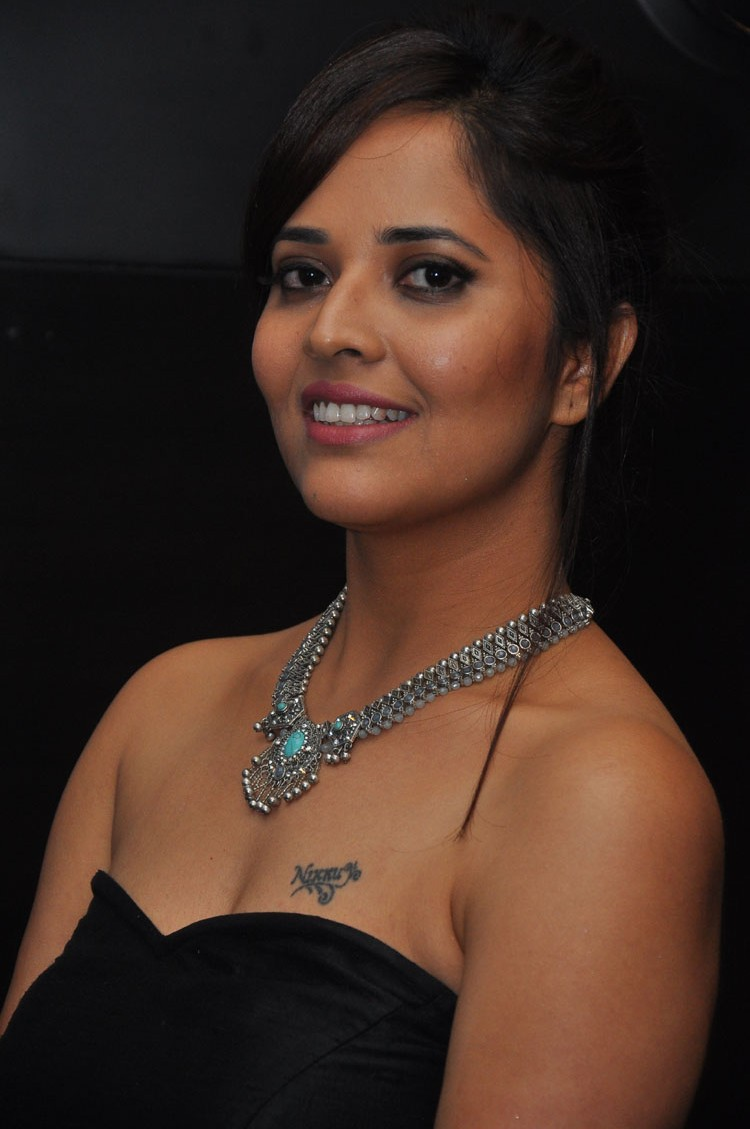 actress anasuya hot stills at winner movie pre release event southcolors 5