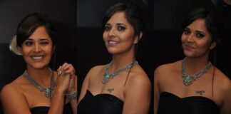 Anchor Anasuya Hot Stills At Winner Movie Pre-Release Event