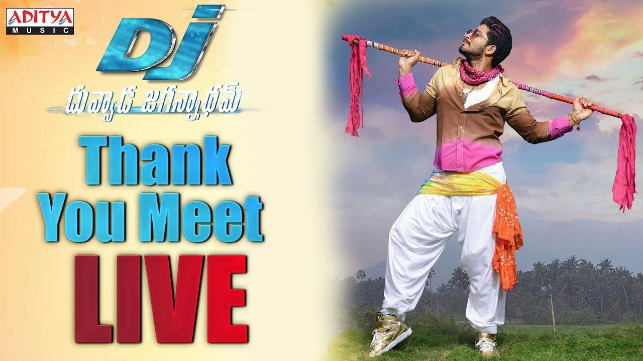 Allu Arjun's DJ - Duvvada Jagannadham Success Meet Live Streaming