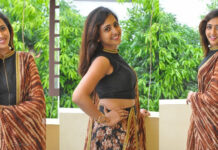 Anchor lasya Photos At Raja Meeru Keka Movie Release Press Meet