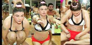 Rakhi Sawant Hot Yoga Video On International Yoga Day