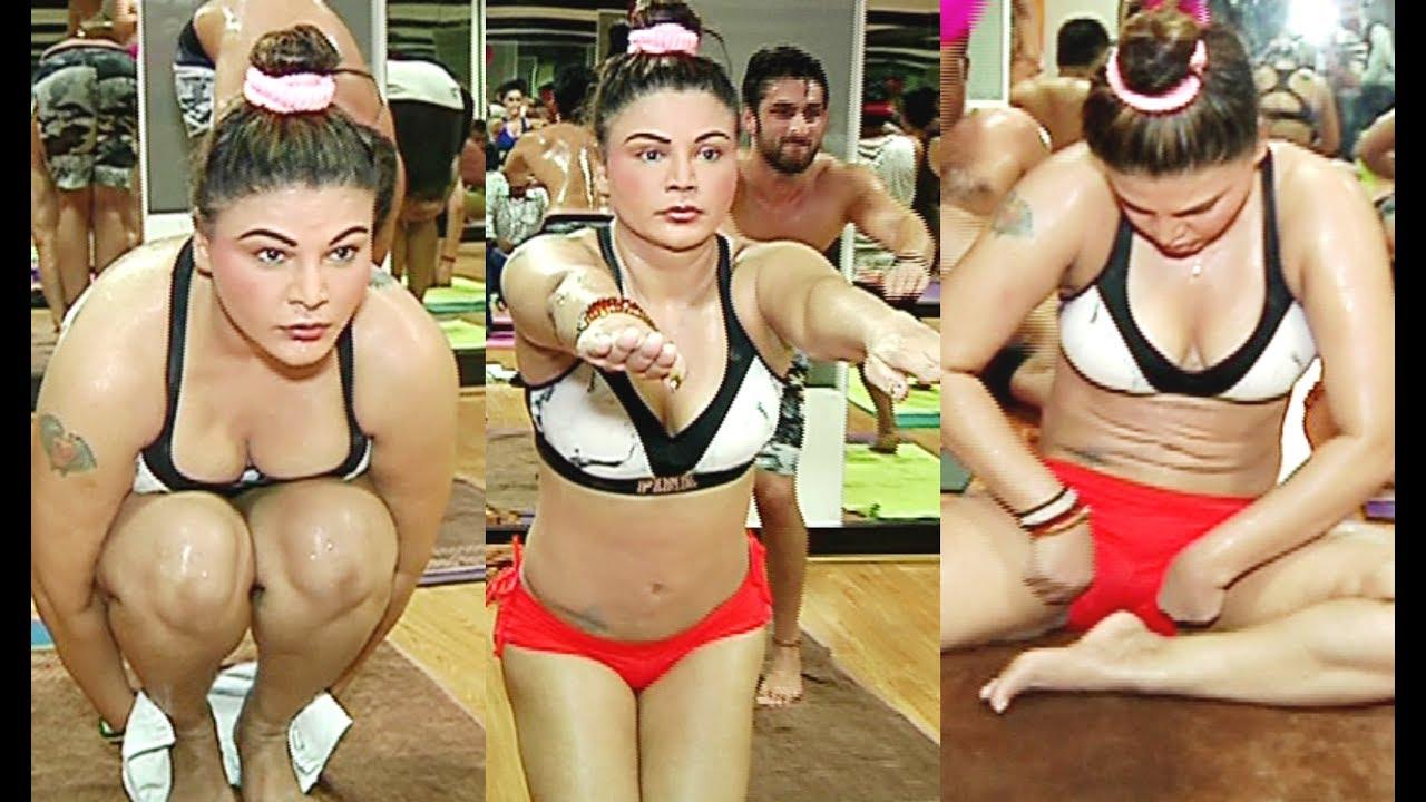 Rakhi Sawant Hot Yoga Video On International Yoga Day