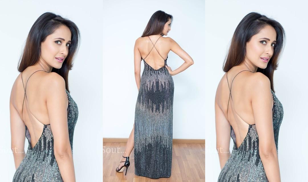 Actress Pragya Jaiswal Hot Backless Photos