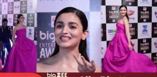 Alia Bhatt at Big Zee Entertainment Awards 2017 Red Carpet