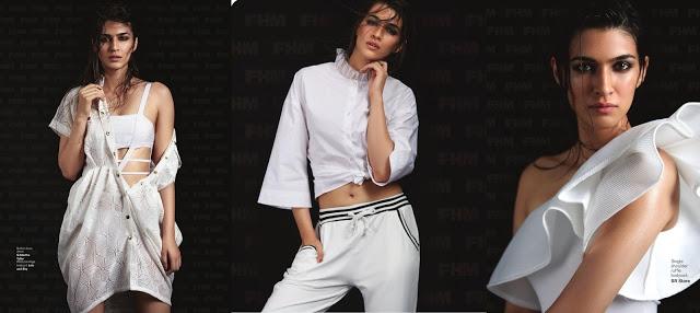Kriti Sanon Get Wet and Wild Cover of FHM Magazine 2017 Photos