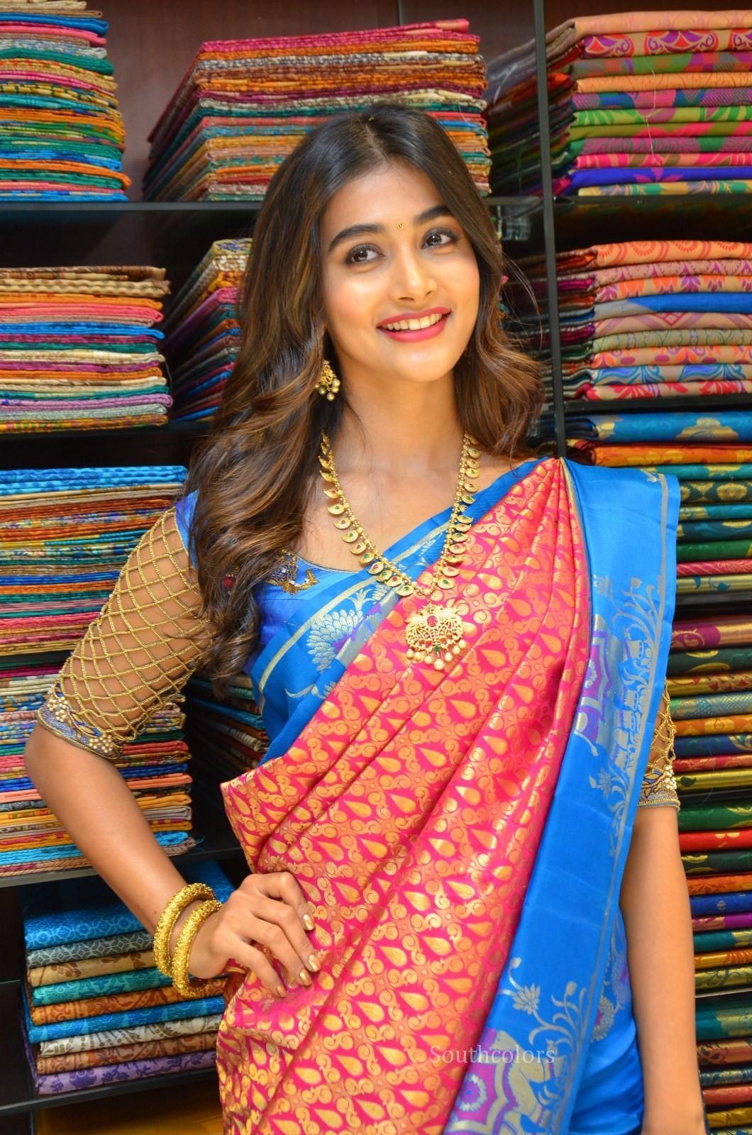 pooja hegde traditional saree photos southcolors 30