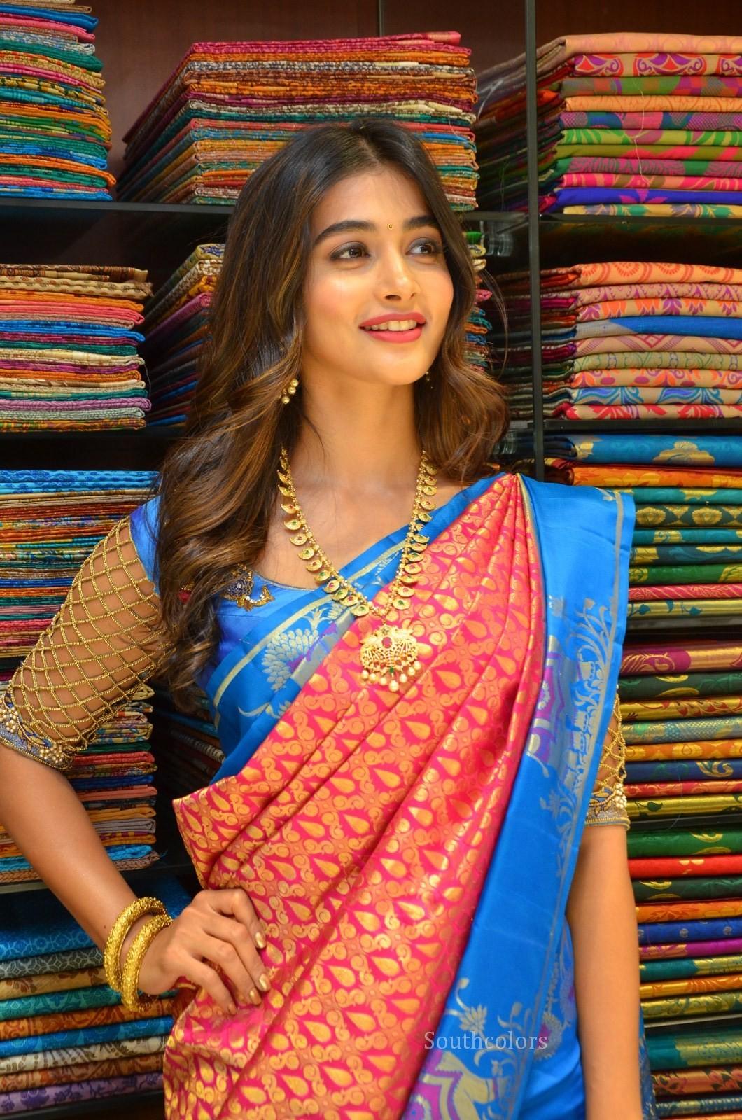pooja hegde traditional saree photos southcolors 31