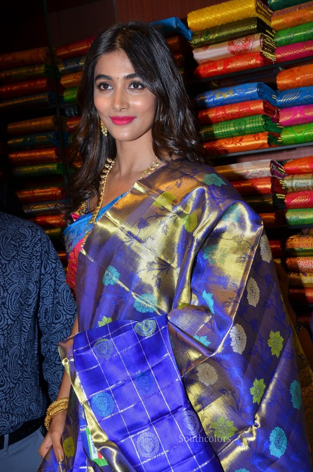 pooja hegde traditional saree photos southcolors 36