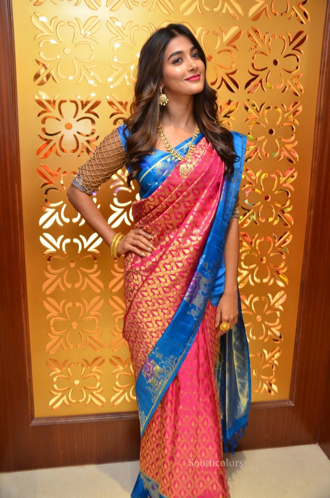 pooja hegde traditional saree photos southcolors 5