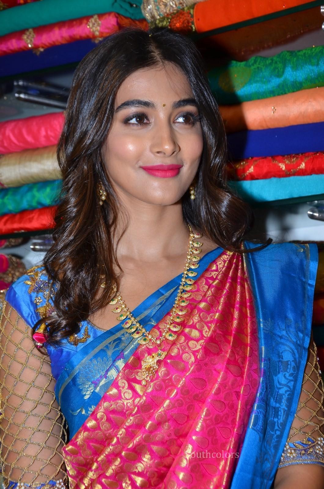 pooja hegde traditional saree photos southcolors 9