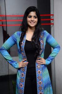 megha akash at lie movie thank you meet photos 8
