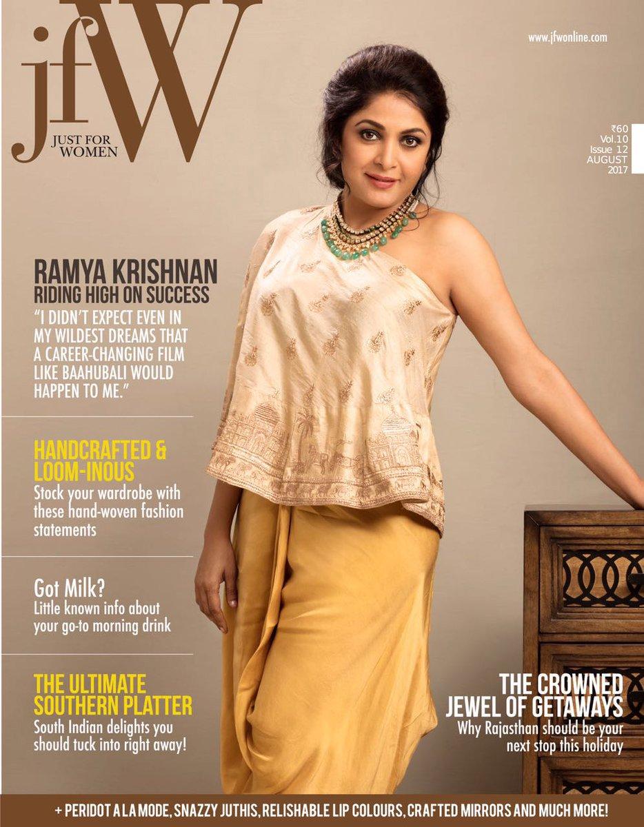 Ramya Krishnan Pose JFW Magazine Cover Photoshoot on August Edition