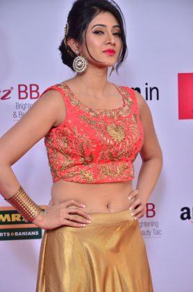 Harshika Poonacha at mirchi music awards southcolors 10