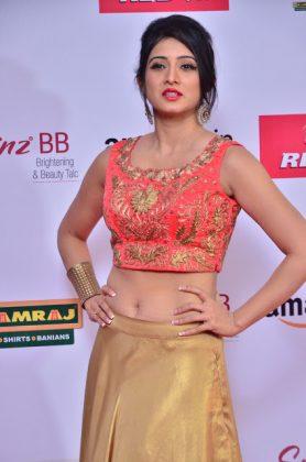 Harshika Poonacha at mirchi music awards southcolors 11