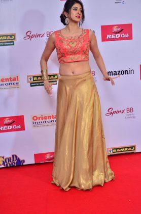 Harshika Poonacha at mirchi music awards southcolors 12
