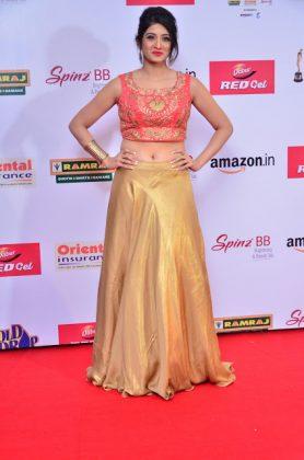 Harshika Poonacha at mirchi music awards southcolors 2