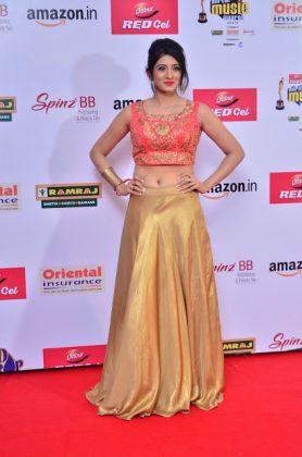 Harshika Poonacha at mirchi music awards southcolors 3