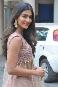 actress pooja hegde stills at sakshyam movie first look motion poster launch 1