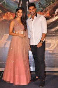 actress pooja hegde stills at sakshyam movie first look motion poster launch 13