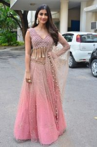 actress pooja hegde stills at sakshyam movie first look motion poster launch 16