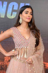 actress pooja hegde stills at sakshyam movie first look motion poster launch 3