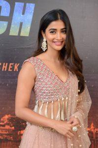 actress pooja hegde stills at sakshyam movie first look motion poster launch 5