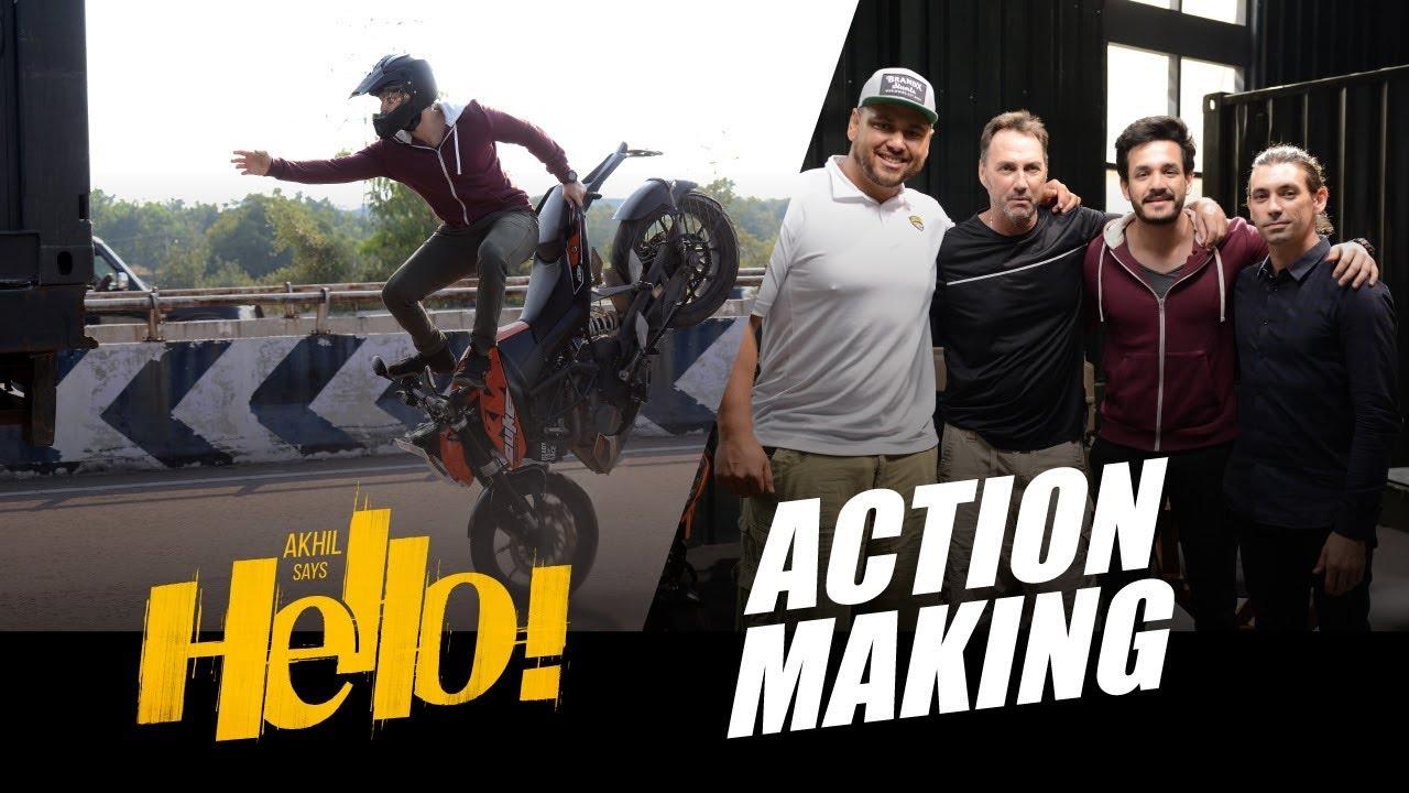 Akhil Akkineni Action Making Video of HELLO Movie