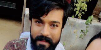 Anasuya Bharadwaj Selfie with Ram Charan At Rangasthalam Movie Sets