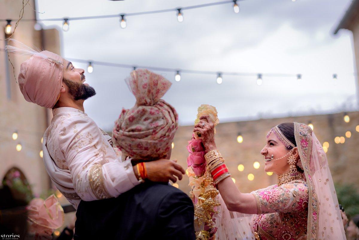 anushka sharma and virat kohli married photos 2
