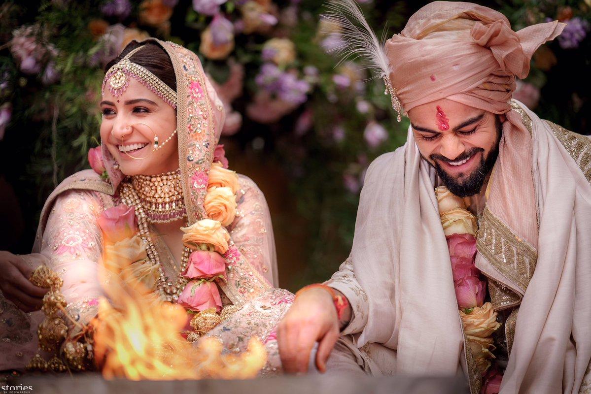 anushka sharma and virat kohli married photos 3
