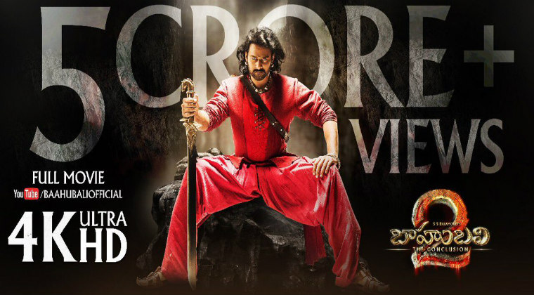 Baahubali 2: The Conclusion Full Movie Gets 5 Crore Views on YouTube
