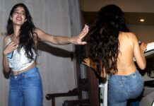 Jhanvi Kapoor Hot In Backless Top Photos