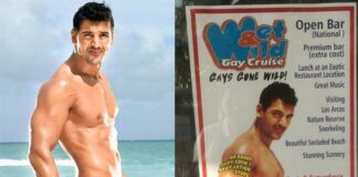 John Abraham Winking Poster on a Gay Cruise