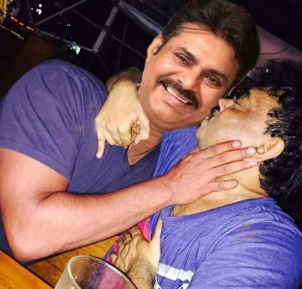Ram Gopal Varma Kissing Pawan Kalyan