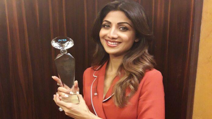 Actress Shilpa Shetty wins PETA's Hero To Animals Award