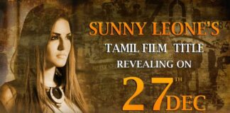 Sunny Leone's Tamil Film Title Revealed on Dec 27