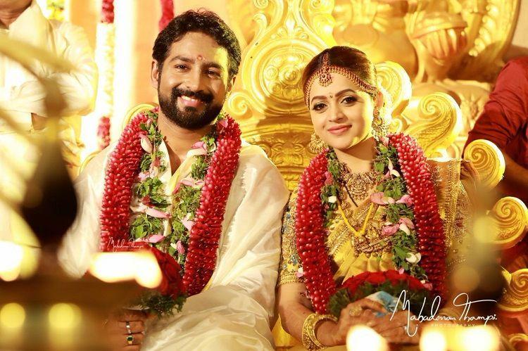 Actress Bhavana married Kannada Producer Naveen in Thrissur