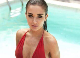 Amy Jackson in Red Hot Bikini
