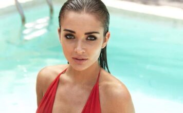 Amy Jackson in Red Hot Bikini